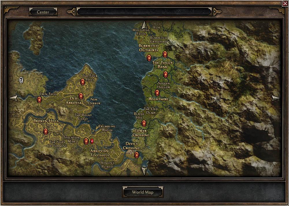 Grim Dawn World Map Grim Dawn   Crate Entertainment